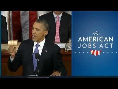 obama jobs - President Obama tells a joint session of Congress that it is time to end the political circus and pass the