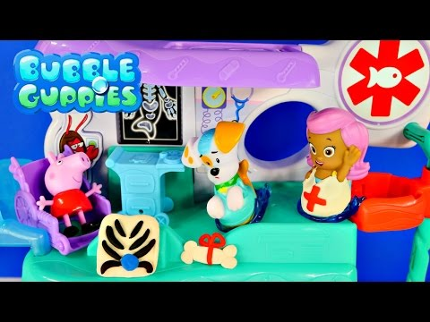 pig - Nickelodeon Bubble Guppies Check-Up Center Hospital Gil and Doctor Molly fix patient Bubble Puppy and Peppa Pig. Play Doh X-Ray Playdoh Dog Bone and Nurse Jacket or Lab Coat. Bubble Guppies...