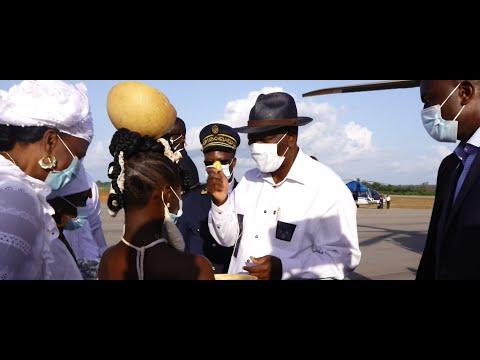 Arrivée du Président Alassane OUATTARA à Odienné, le Samedi 10 Octobre 2020