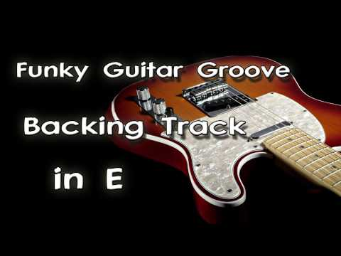 Funky Guitar Groove Backing Track In E