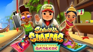 Join the Subway Surfers World Tour in Bangkok! Download for free on Android, iOS, Windows 10 and Kindle Fire right here: http://bit.ly/SubSurfFBSubway Surfers World Tour - Bangkok:★ The Subway Surfers are going to Thailand★ Surf among floating markets and golden statues in beautiful Bangkok★ Shine up your cast with an elegant new Outfit for Noon★ Upgrade the Turtle board and get a sparkly trail of bubbles★ Buy Boosts and Hoverboards during a run to always be prepared for the next challengeDownload for FREE on:Android:http://bit.ly/SubSurf_GooglePlayiOS:http://bit.ly/SubSurf_AppStoreWindows 10:http://bit.ly/SubSurf_WPstoreKindle Fire:http://bit.ly/SubSurf_Amazon