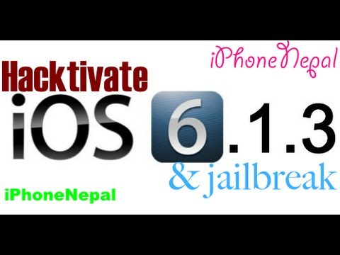 hacktivate - This is a Quick Video How to Hacktivate & Jailbreak iOS 6.1.3 & Bypass Activation Screen on iPhone 4 & iPhone 3Gs. Download iOS 6.0 :-http://bit.ly/15vPQvA D...