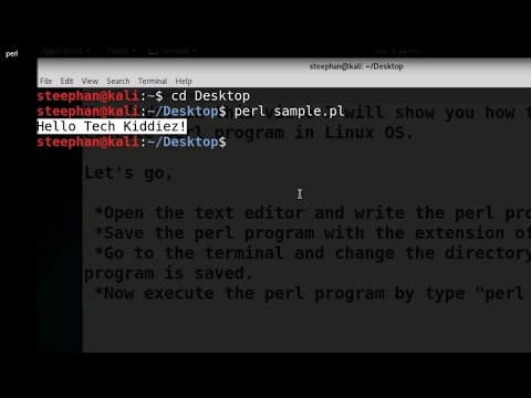 How to write and run PERL program in Linux OS.