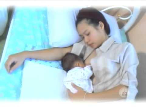 คลิปวีดีโอสุขภาพ เรื่อง อุ้มลูกดูดนมแม่อย่างถูกวิธี