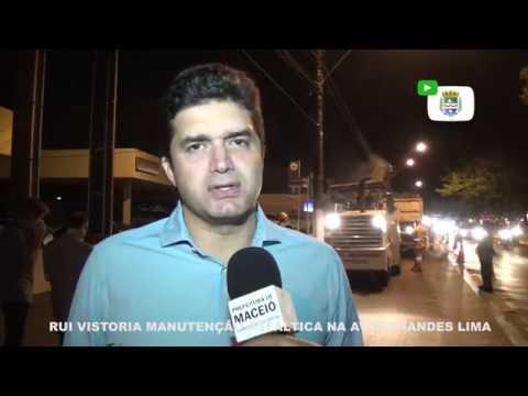 Prefeito Rui Palmeira vistoria obras de fresagem na Av. Fernandes Lima