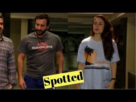 Kareena Kapoor Khan & Saif Ali Khan Spotted Soha Ali Khan's House On Her Birthday