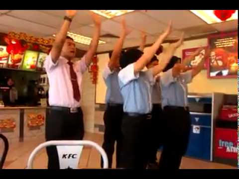 KFC staff flash mob