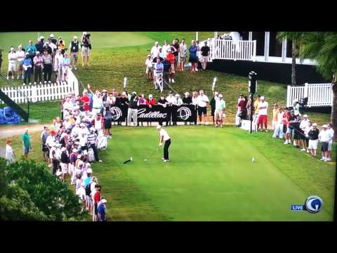 Dustin Johnson Hits Crane With Drive