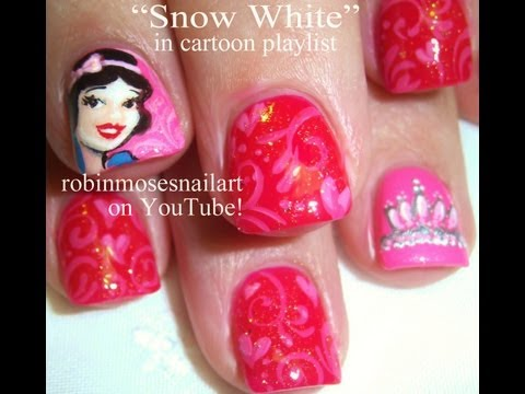 Snow White Princess Nail Art