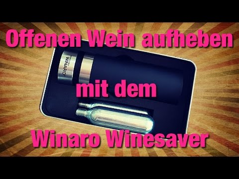 Offene Weine aufheben und konservieren
