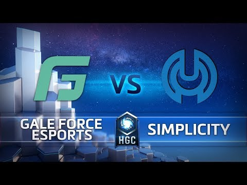 HGC North America- League Play Week 1- Simplicity vs. Gale Force Esports- Game 1