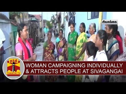 Local-Body-Election--Woman-Campaigning-Individually-attracts-people-at-Sivagangai
