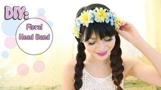 ❀How To Make❀ Floral Head Band Using A Bra Strap - YouTube