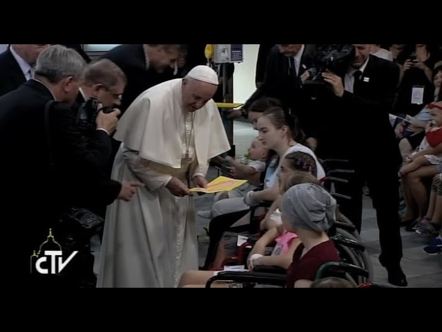 El Papa Francisco en el Hospital Universitario Infantil de Cracovia