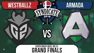 Syndicate – G2 | Westballz (Falco, Cpt. Falcon) Vs. A | Armada (Peach) – Grand Finals – Melee VOD