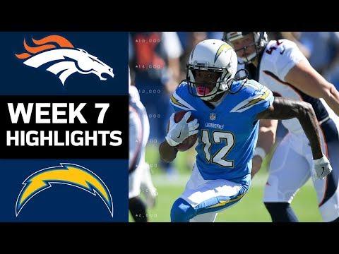 Broncos vs. Chargers | NFL Week 7 Game Highlights (видео)