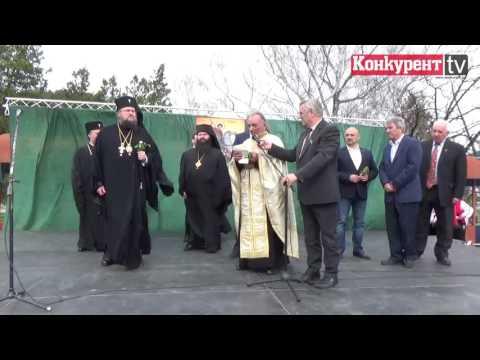 Посрещане на владиката Григорий в Зверино