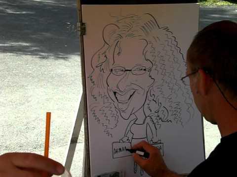 Karikatur – Live mit aufgenommen – Super Zeichner , ( caricature )