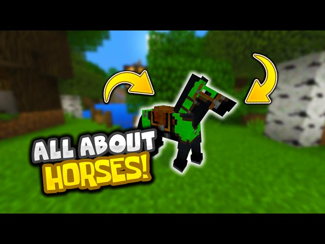 how to make horse armor in minecraft pe