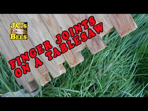 Doing finger joints on the table saw (bee equipment)