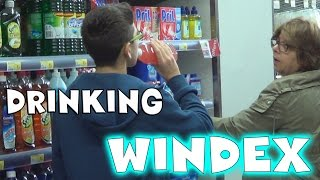 Funny prank in stores! We switched Windex with Powerade and drank it in public! Thank you guys so much for watching! Like The Video? Subscribe For More: http://www.youtube.com/subscription_center?add_user=theprankersprankGoogle+ : https://plus.google.com/u/1/b/102011105391383810890/102011105391383810890?pageId=102011105391383810890Instagram : http://instagram.com/theprankers_youtube