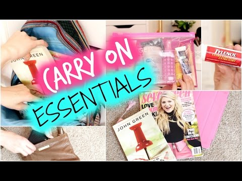 Travel/Carry On Essentials!