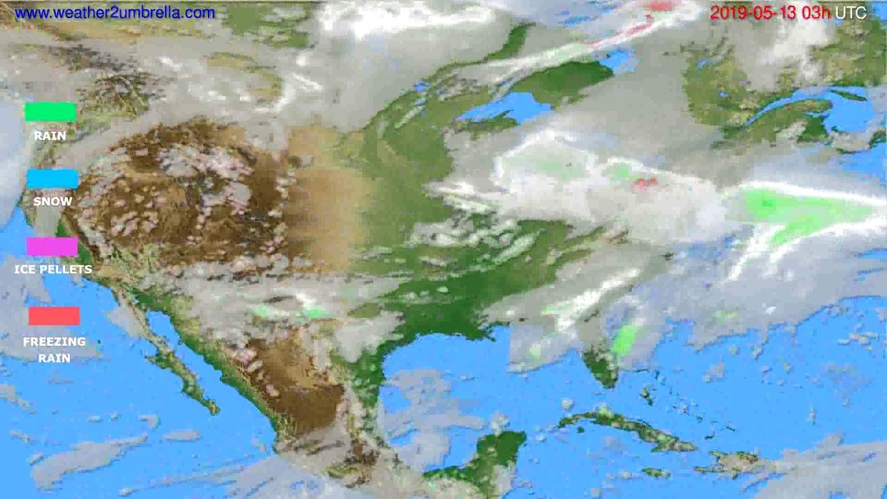 Precipitation forecast USA & Canada // modelrun: 00h UTC 2019-05-10