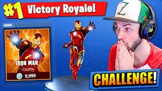 The IRON MAN CHALLENGE in Fortnite: Battle Royale!