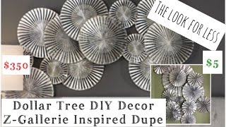 Dollar Tree DIY Wall Decor Z Gallerie Inspired | momma from scratch