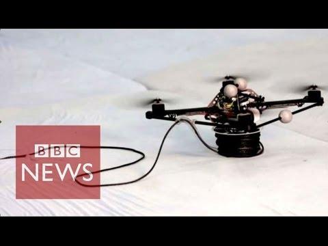 Drones build rope bridge that humans can cross
