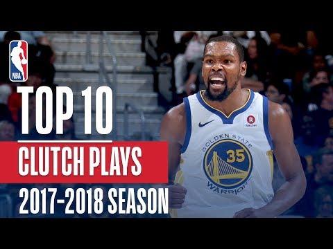 Top 10 Clutch Plays: 2018 NBA Season (видео)