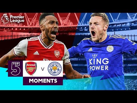 Arsenal vs Leicester   Top 5 Premier League Moments   Aubameyang, Vardy, Bergkamp