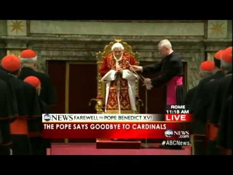 Benedict XVI DEPARTS the Vatican for Last Time as Pope   Pope Benedict XVI LEAVES Vatican City