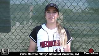 2020 Dezirae Simon Pitcher and Third Base Softball Skills Videoo
