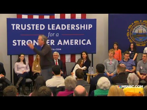 WATCH: Jeb Bush had to ask voters to