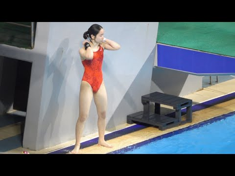 여자 다이빙 국대 선발전 모습 (종목: 10m 플랫폼)