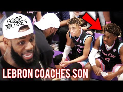 LeBron James COACHES Bronny Jr in CHAMPIONSHIP GAME! Balling On The Beach Miami!