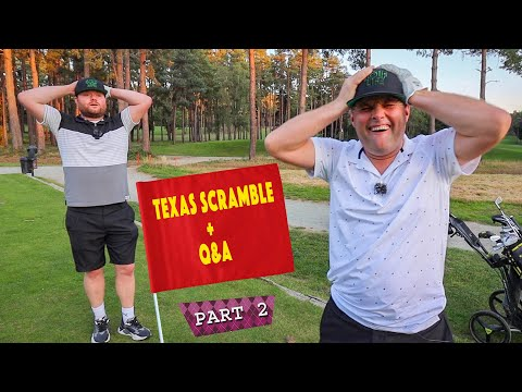 SOOOO CLOSE TO A HOLE IN 1!!⛳️👀⛳️👀⛳️👀 | TUBES & BIG ANGE TEXAS SCRAMBLE | PART 2