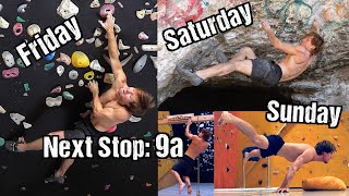 Perfect Climbing Training Weekend (Next Stop: 9a) by Mani the Monkey