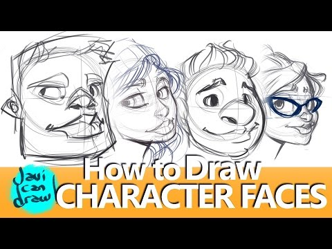 HOW TO DRAW FACES, HAIR, HATS AND GLASSES
