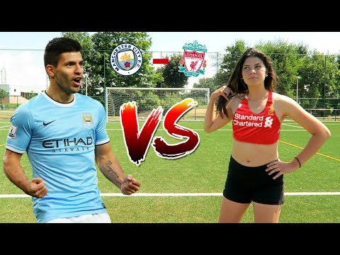 LIVERPOOL VS MANCHESTER CITY FOOTBALL CHALLENGES!!!