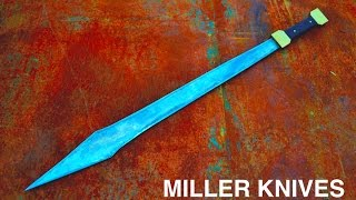 Facebook page https://www.facebook.com/Miller-Knives-285026088542858/First attempt at forging a sword