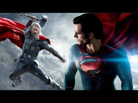 Superman VS Thor Fight Battle Marvel VS DC Fanmade