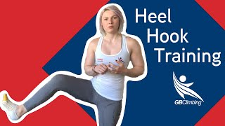 Heel hook training with GB Coach Rachel Carr by teamBMC