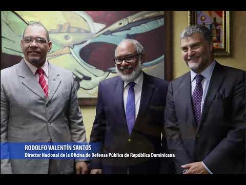 Rodolfo Valentín Santos, director de la Oficina Nacional de Defensa Pública de República Dominicana destaca el apoyo de agencias internacionales de cooperación en proyecto que fortalece la defensa pública en su país.