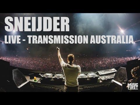 Sneijder - Live at Transmission, Australia (видео)