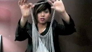 DIY: Waterfall necklace - YouTube