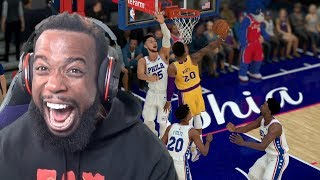 I DUNKED ON BEN SIMMONS!! Lakers vs Sixers NBA 2K19 MyCareer Ep 78