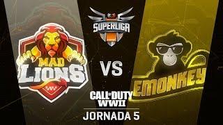 MAD LIONS VS EMONKEYZ CLUB - SUPERLIGA ORANGE COD - JORNADA 6 - #SuperligaOrangeCOD6