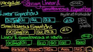 Linear& Simultaneous Equations YouTube video